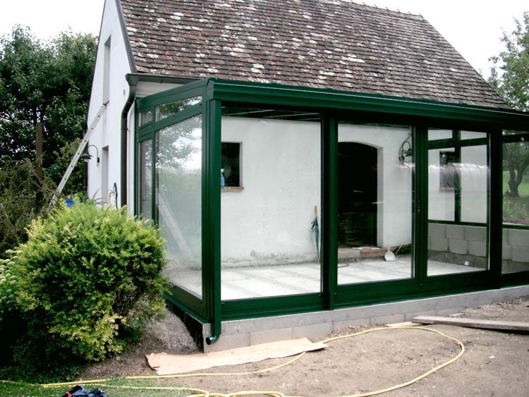 wintergarten aluminium aluminium wintergarten 6m x 3m grun. Black Bedroom Furniture Sets. Home Design Ideas