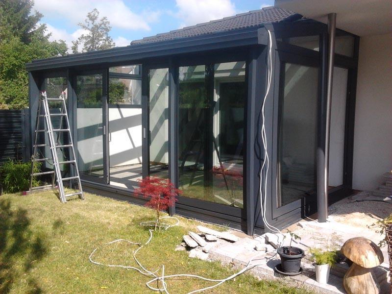 wintergarten aluminium aluminium alu wintergarten in grau 6 x 3. Black Bedroom Furniture Sets. Home Design Ideas